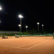 Iluminação LED para quadra de tênis vôlei campo de futebol