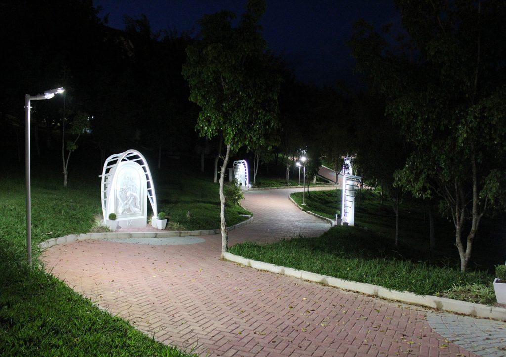 Imagem iluminação led canção nova cachoeira paulista