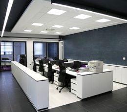 iluminação escritórios